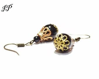 Black boho chic women earrings