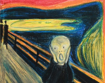 The Scream Edvard Munch remake redesigned art print  Poster limited to 100