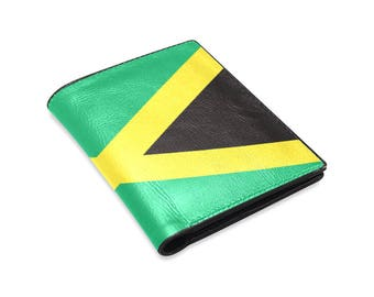 Jamaican Men's Leather Wallet - Free shipping world wide