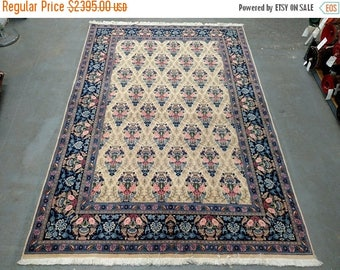 SUMMER CLEARANCE Persian Rug - 1980s Vintage, Hand-Knotted, Veramin Rug (1225)