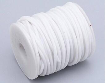 3mm hollow flexible PVC tubing, 1.5mm hole, White color,10 feet, white PVC tubing, 3mm PVC tubing, craft tubing, stringing, Pvc cord
