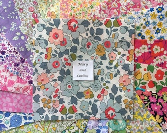 "25 x 5"" Squares - Florals Lucky Dip Pack of Liberty London Tana Lawn"