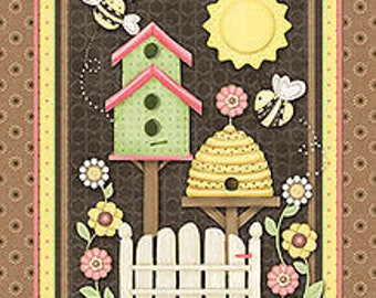 Henry Glass fabric Let It Bee fabric Panel