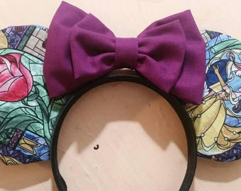 Beauty and the Beast Minnie and Mickey Mouse ears