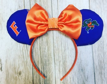Minnie Mouse Ears University of Florida Gators Fabric