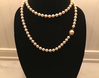 "9 mm Faux Pearl 18"" Necklace by Majorica"