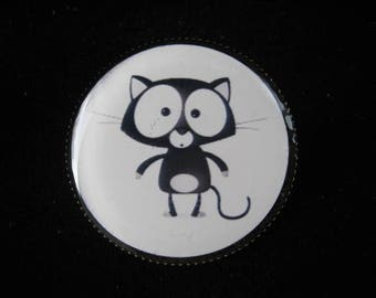 """Black cat"" resin ring"