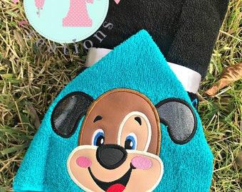 Puppy Hooded Towel-Tiger Eyes Hooded Towel-Animal Hooded Towel-Puppy Hooded Towel-Kids Hooded Towels-Character Hooded Towels-Child Towel
