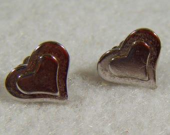 Vintage AVON Heart Shaped Small Pierced Earrings