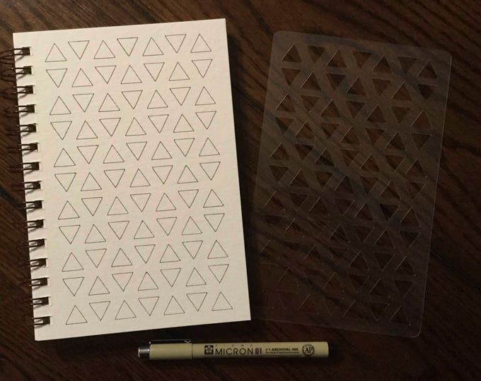 """Triangle Fragments (Patterns) Chart Stencil ~ 5"""" x 8"""" for Journals and Drawing"""