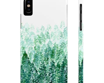 Pine Tree Forest iPhone X Case, iPhone X Case, pine tree iPhone, forest iPhone case, pine tree iPhone X, tree iPhone case, pine tree case