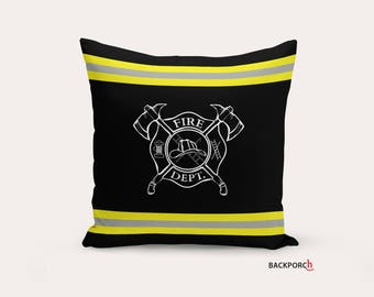 Firefighter Pillow, FireFirefighter Decor, Fireman, Brotherhood, Fire Dept, Firefighter Gift, Fire Department, Turnout Gear, Malteset Cross