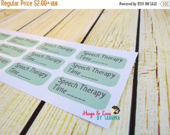 ON SALE Speech Therapy Planner Sticker - Size Customize-able