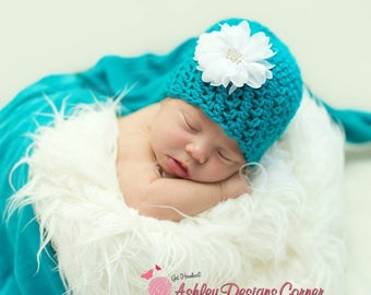 Crochet Pattern Piper Beanie (Newborn - Adult) - PDF - Instant Digital Download