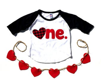 Valentines Day, First Valentines Day, One, First Birthday, Gender Neutral, Shirt,Birthday Shirt