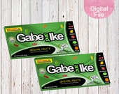 XBox Inspired Mike n Ike Labels-Candy  Labels-Custom Mike and Ike Labels-Video Game Candy Label-Xbox Candy Label