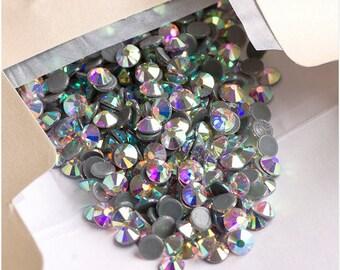 16ss Crystal AB HOTFIX Iron on Rhinestones VERY High Quality