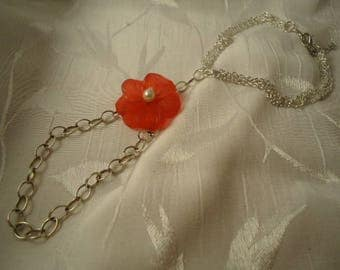Ankle bracelet set of foot ring foot, and red flower