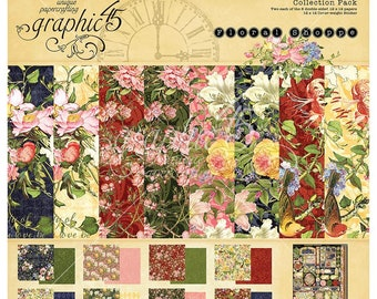 Graphic 45 12x12 Paper Collection Kit - Floral Shoppe