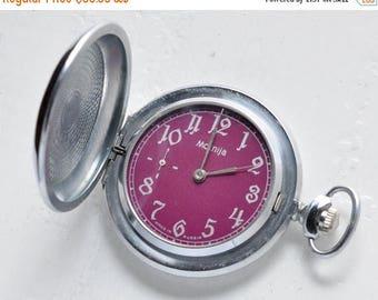 "ON SALE Soviet watch ,Vintage Watch , Mens Watch ,Russian watch ,The inscription - ""The anniversary of the Second World War""  watch ""Molnija"