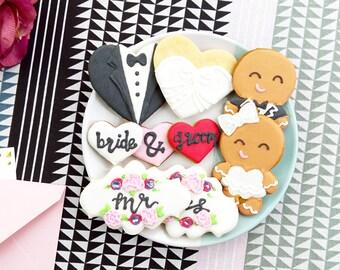 Wedding Cookie Samples // Wedding Favors // Gingerbread Cookies // Vanilla Cookies