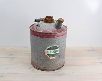 Vintage Galvanized Gas Can