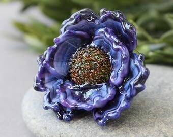 Lampwork Flower Bead - Handmade Lampwork Beads - Floral Lampwork - Lampwork Flower - Flower Beads - Lampwork