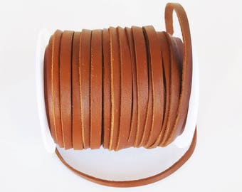 2 m of Brown 5mm flat leather