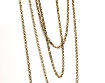 3mm Brass Cable Chain, Belcher Chain, 10FT