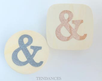 """Ampersand """"&"""" fusible colors to choose 6.5 cm"""