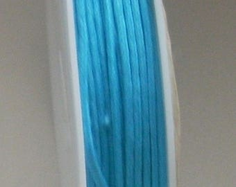 1 METER OF COTTON WAXED 1 MM TURQUOISE