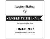 20 custom designed heart tags