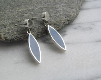 Sterling Silver and Resin Dangle Earrings
