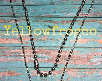 Yellowfrogco 4.8mm Silver Plated Ball Chain Necklace
