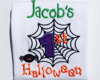 1st HALLOWEEN-Personalized Embroidered Bodysuit or T-Shirt