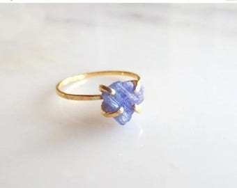 Raw Tanzanite Ring Raw Stone Ring Raw Engagement Ring Rough Stone Ring Tanzanite Ring Rough Engagement Ring Raw Stone Engagement Ring Rough
