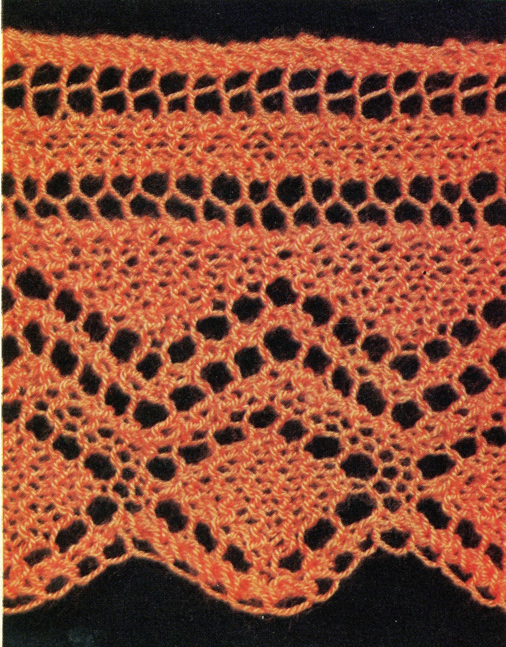 Diamond Trim Pillow + Sheet • 1970s Lace Knitting Patterns • Vintage ...