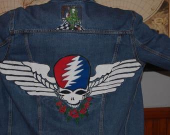 RARE Grateful Dead Levis Trucker Jacket Men's XL Denim Jean Wings