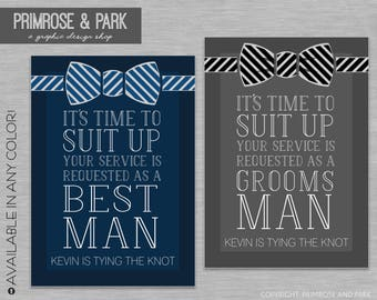 Will You Be My Groomsman Card // Will You Be My Best Man // Groomsman Card Printable // Bridal Party Card