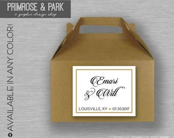 Welcome Bag Stickers Printed // Gable Box Stickers // Welcome Bag Tag // Wedding Welcome Bag Stickers