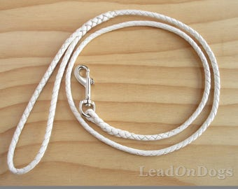 Braided Kangaroo Leather Dog Lead - Design Your Own - LeadOn Whiskey -  Made to Order