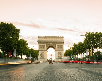 Paris Photography Print - Arc de Triomphe at Sunset - Paris Wall Art - Travel Photography Print
