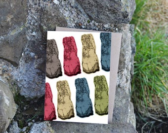 Pictish Stone Greeting Card - Strathmiglo