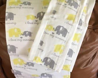 Flannel Receiving Blanket & Burp Cloths