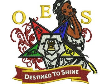 OES Destined to shine embroidery design