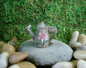 Watering Can - Fairy Garden - Terrarium - Miniature Gardening - Craft Supply