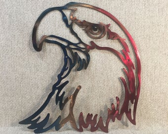 American Bald Eagle Head Man Cave Metal Wall Art