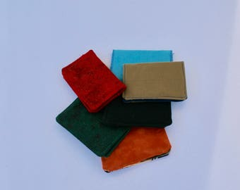 Bi-fold Wallet~Business Card Holder~Gift Card Pouch~Solid Color Card Cases