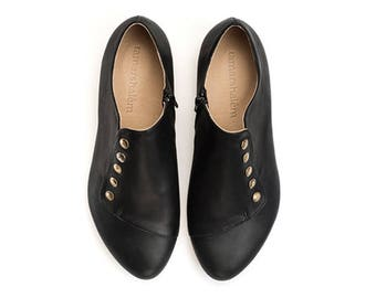 High Quality Durable leather flats, Grace, Comfortable Handmade shoes for Your Fashion Lifestyle by Tamar Shalem