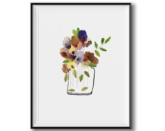 Contemporary Flower Vase Print